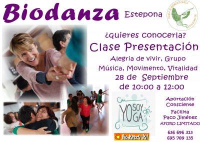 Biodanza -Clase Presentación- 28/9 - 10:00 hs.