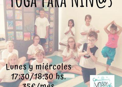 Yoga para Niños-Abierta la Inscripción.